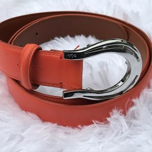Ralph Lauren Women Belt Red Genuine Leather